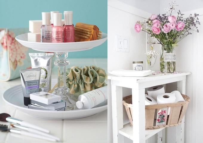 Ideias simples e inspiradoras para decorar seu banheiro  Blog Laris -> Decorar Banheiro Flores