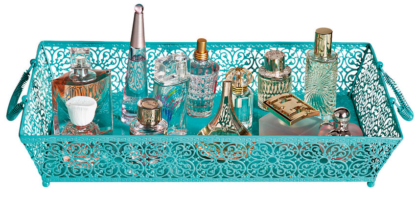 bandeja para organizar seu perfume
